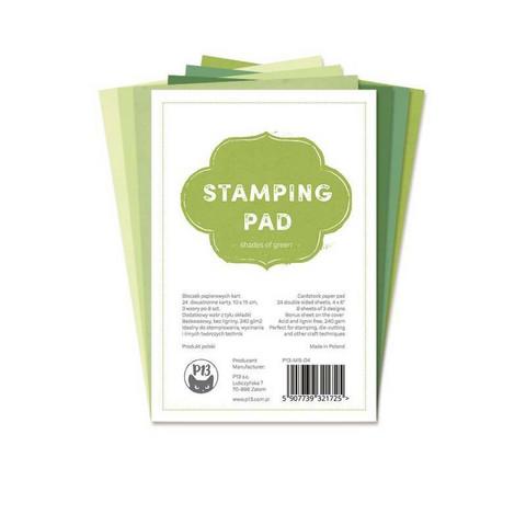 P13 Stamping pad - Shades of green 4x6
