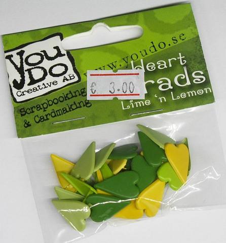 You Do sydänhaaraniitit - Lime´n Lemon 27kpl