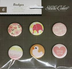 Studio Calico napit badges 6kpl - tyttö