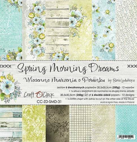 Craft O´Clock Spring Morning Dreams paperisetti 30,5x30,5cm 6kpl