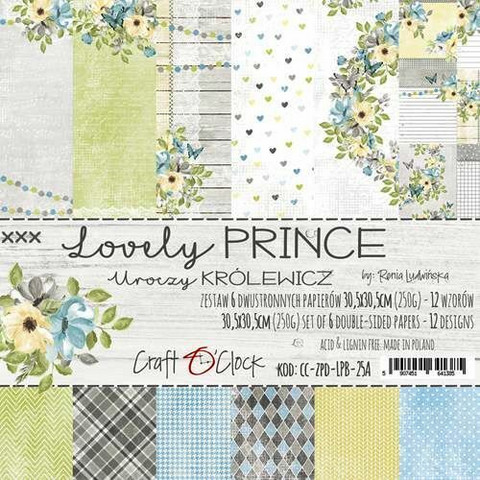 Craft O´Clock Lovely Prince paperisetti 30,5x30,5cm 6kpl