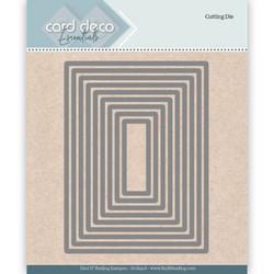 Card Deco stanssit - suorakaide rectangle 9kpl