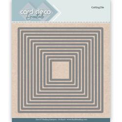 Card Deco stanssit - neliöt Squares 11kpl