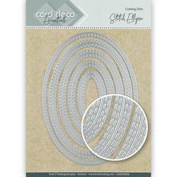 Card Deco stanssit - tupla tikatut ovaalit Stitch Ellipse 5kpl