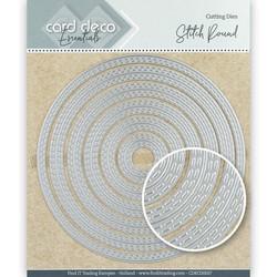 Card Deco stanssit - tupla tikattu ympyrä Stitch Round 6kpl