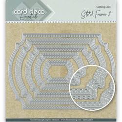 Card Deco stanssit - tupla tikattu kehys2 Stitch Frame2 5kpl