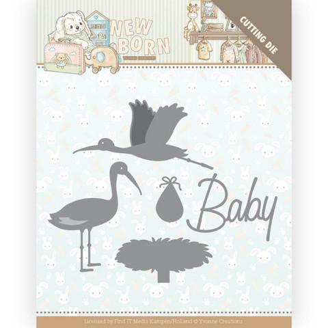Yvonne Creations stanssit Newborn - Stork