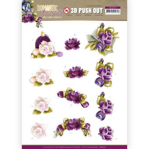 Stanssatut 3d-kuvat Romantic Roses Precious Marieke sb10517