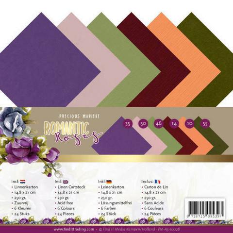 Tekstuurikartongit Precious Marieke - Romantic Roses a5