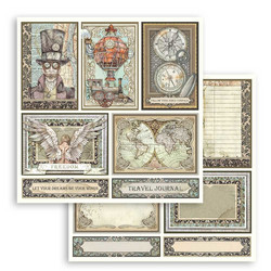 Stamperia korttikuvat Sir Vagabond cards 12x12