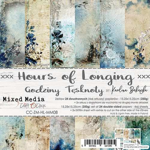 Craft O´Clock paperikko Hours of Longing 15,25x15,25cm