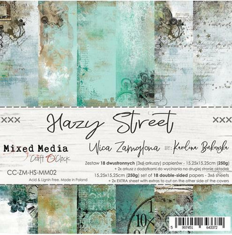 Craft O´Clock paperikko Hazy Street 15,25x15,25cm