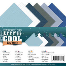 Tekstuurikorttikartongit Amy Design Keep it Cool 13,5x27cm