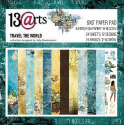 13arts paperikko Travel the World 6x6