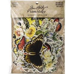 Tim Holtz Idea-ology leikekuvat Layers Botanical 83kpl