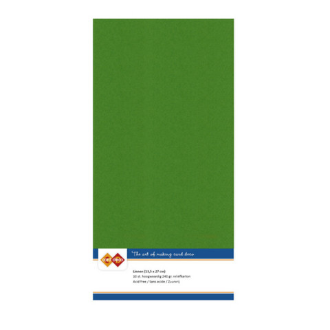Tekstuuri korttikartongit Fern Green 13,5x27 10kpl