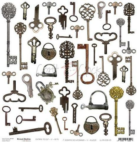 Craft O´Clock Mixed Media Keys Extras to cut 05 30,5x30,5cm