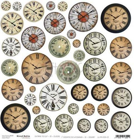 Craft O´Clock Mixed Media Clocks Extras to cut 03 30,5x30,5cm