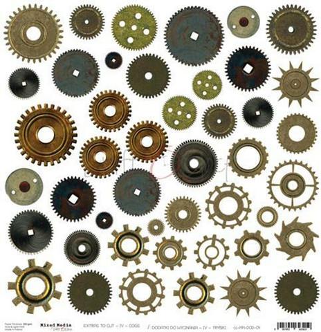 Craft O´Clock Mixed Media Cogs Extras to cut 04 30,5x30,5cm