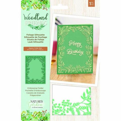 Crafter's Companion kohoviointitasku Woodland Friends Foliage Silhouette