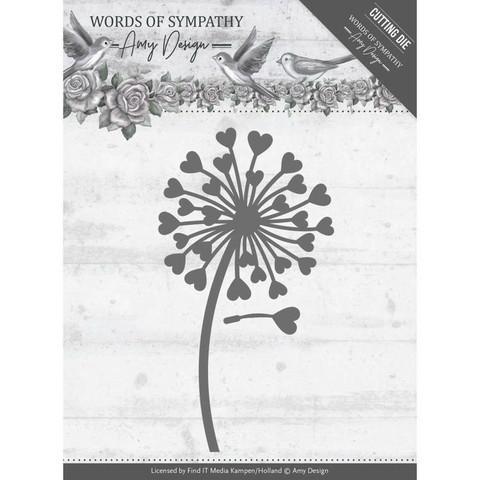 Amy Design stanssit Words of Sympathy - Sympathy Flower