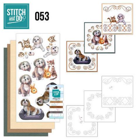 Stitch and Do - Pets 53 ommeltava kortteilupakkaus