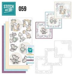 Stitch and Do - I Love You 59 ommeltava kortteilupakkaus