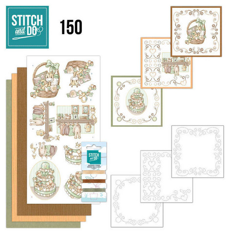 Stitch and Do - Newborn 150 ommeltava kortteilupakkaus