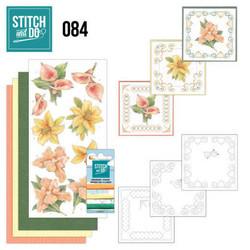 Stitch and Do - Yellow Flowers 84 ommeltava kortteilupakkaus
