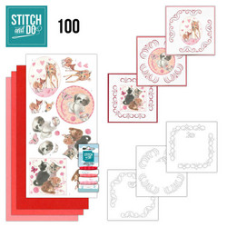 Stitch and Do - Playful Pets 100 ommeltava kortteilupakkaus