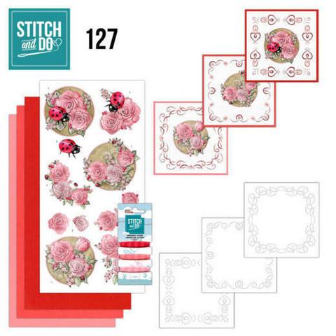 Stitch and Do - Ladybug 127 ommeltava kortteilupakkaus
