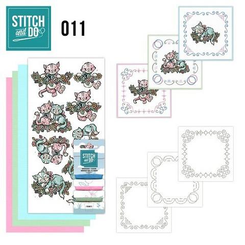 Stitch and Do - Kittens 11 ommeltava kortteilupakkaus