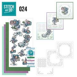 Stitch and Do - Fairies 24 ommeltava kortteilupakkaus