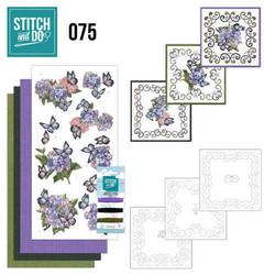 Stitch and Do - Hydrangea 75 ommeltava kortteilupakkaus