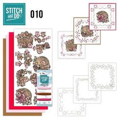 Stitch and Do - Mother´s Day 10 ommeltava kortteilupakkaus