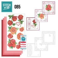 Stitch and Do - Red Roses 85 ommeltava kortteilupakkaus