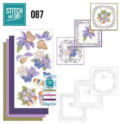 Stitch and Do - Purple Flowers 87 ommeltava kortteilupakkaus