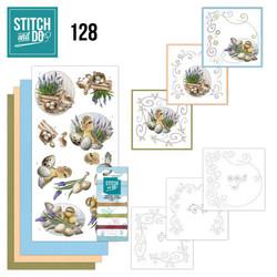 Stitch and Do - Botanical Spring 128 ommeltava kortteilupakkaus