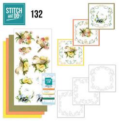 Stitch and Do - Delicate Flowers 132 ommeltava kortteilupakkaus