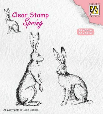 Nellie Choice leimasin Two hares SPCS014