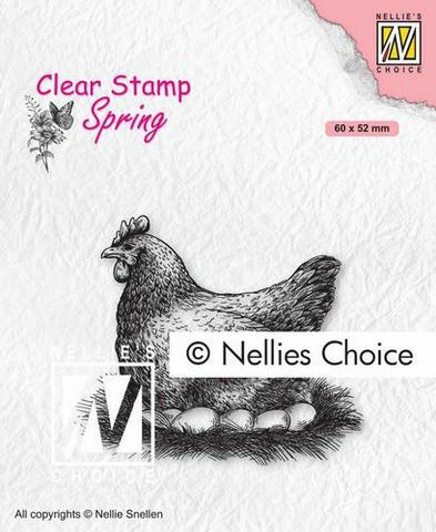 Nellie Choice leimasin Mother Hen kana SPCS019