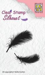 Nellie Choice leimasin Feathers höyhenet SIL023