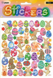 Tarrat pääsiäispuput ja munat kimalteella 2103