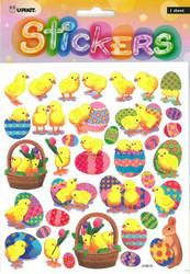 Tarrat pääsiäistiput ja munat kimalteella 2144