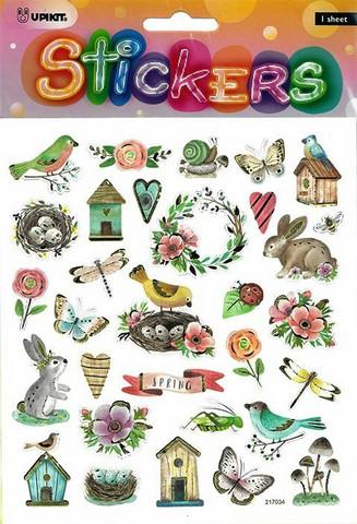 Tarrat kevät linnut, kukat ja eläimet 3206