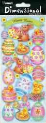 Dimensional 3D tarrat pääsiäispuput ja munat 9797