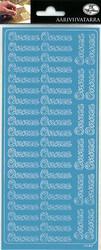 Ääriviivatarrat Onnea sininen JK Prmeco 9745