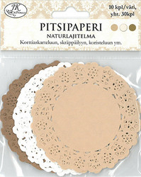 Kakkupaperit naturlajitelma 8,7cm/30kpl JK Primeco