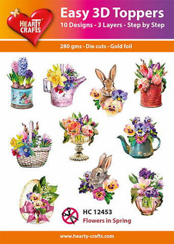Hearty Crafts stanssatut 3d-kuvat Flowers in spring