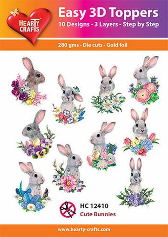 Hearty Crafts stanssatut 3d-kuvat Cute Bunnies